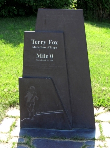 Terry fox memorial at St. Johns, Newfoundland