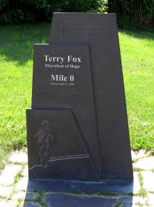 Terry fox memorial at St. Johns, Newfoundland