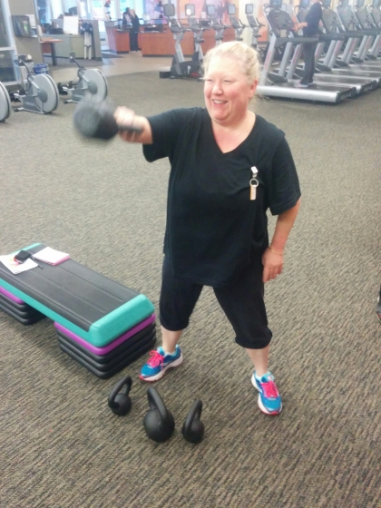Connie Killing the Kettlebells!